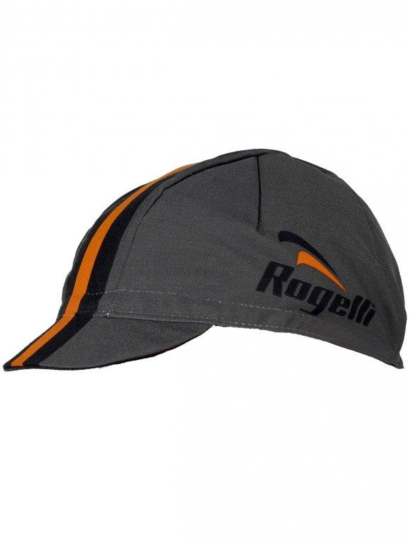 čepice Rogelli RETRO šedo/oranžová