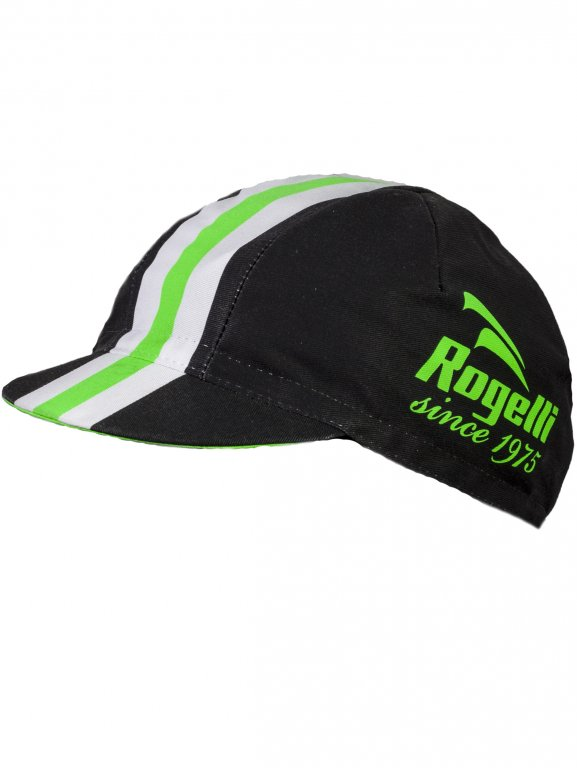 čepice Rogelli RETRO černo/zelená