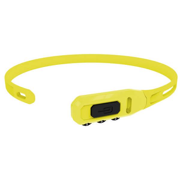 zámek Hiplok tie lock kódový 43cm žlutý