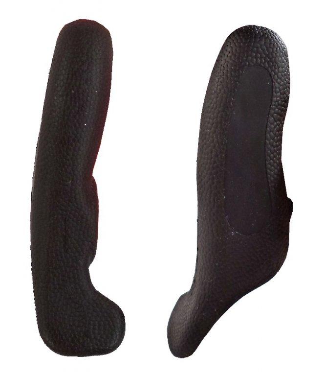 Rohy 4RACE AL+guma 12cm černé