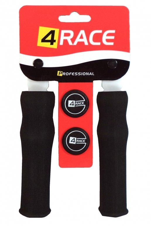 gripy 4RACE tvrzené pěnové NBR 127mm černé