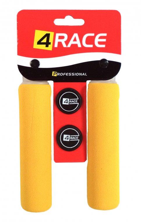 gripy 4RACE pěnové tvrzené 130mm žluté