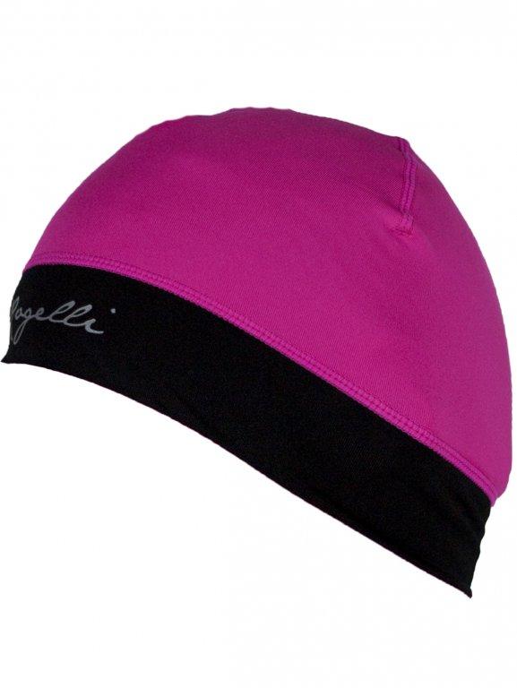 čepice dámská Rogelli MAXIE elastická s otvorem pro vlasy růžová