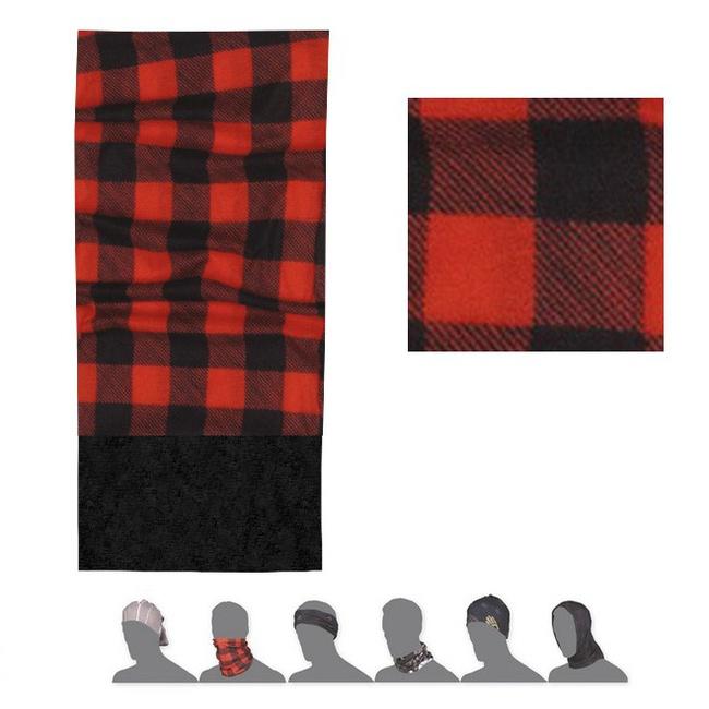šátek roura SENSOR TUBE FLEECE SQUARE červeno/černý