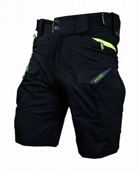 Kalhoty krátké pánské HAVEN CUBES BLACKIES černo/zelené