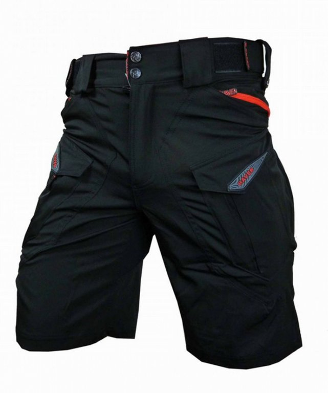 Kalhoty krátké unisex HAVEN CUBES BLACKIES černo/červené