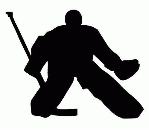 Samolepka Tempish silueta brankář hokej