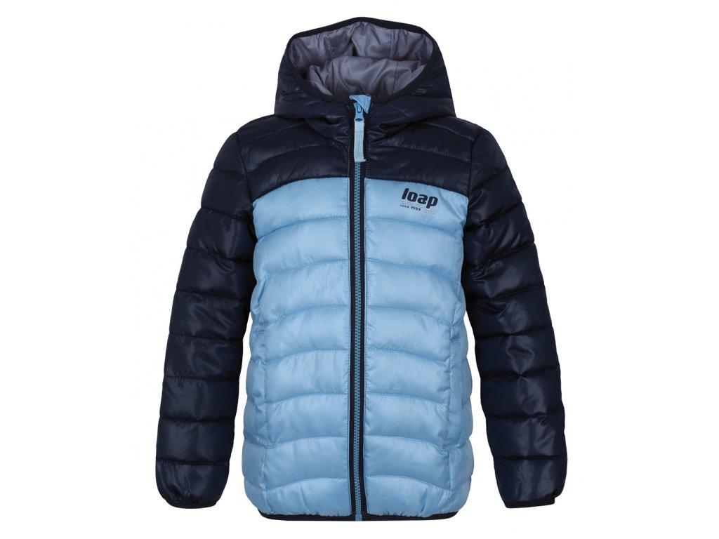 bunda dětská LOAP IMEGO zimní modrá, 122/128