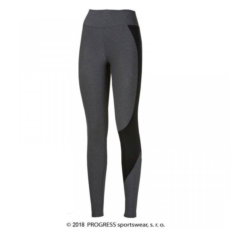 Kalhoty dlouhé dámské Progress BETTY GYM šedé