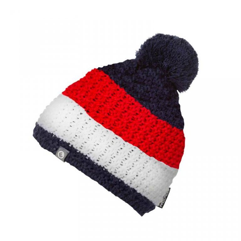 čepice dámská Progress ZEBRA pletená modro/bílo/červená
