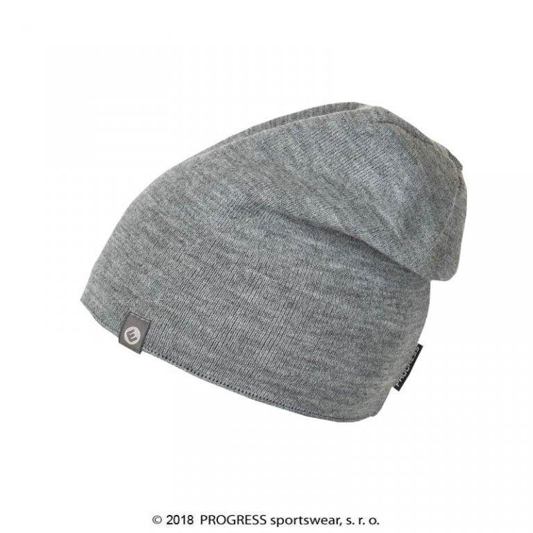 čepice pánská Progress SANTOS pletená šedá