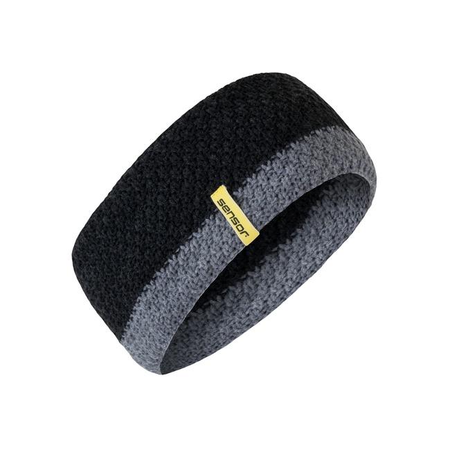 čelenka SENSOR pletená černá