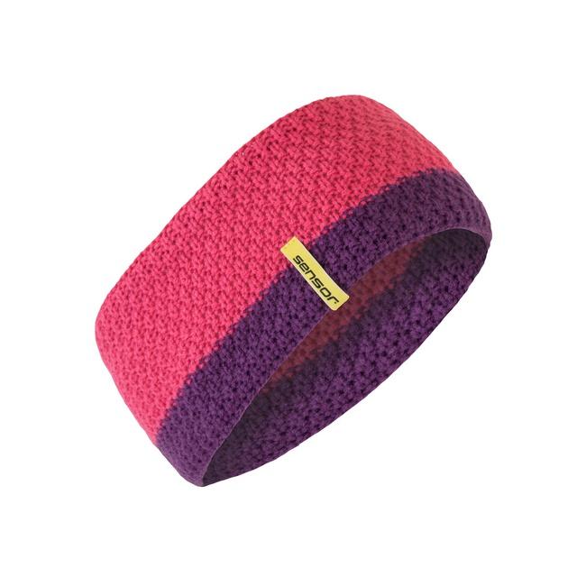 čelenka SENSOR pletená růžová