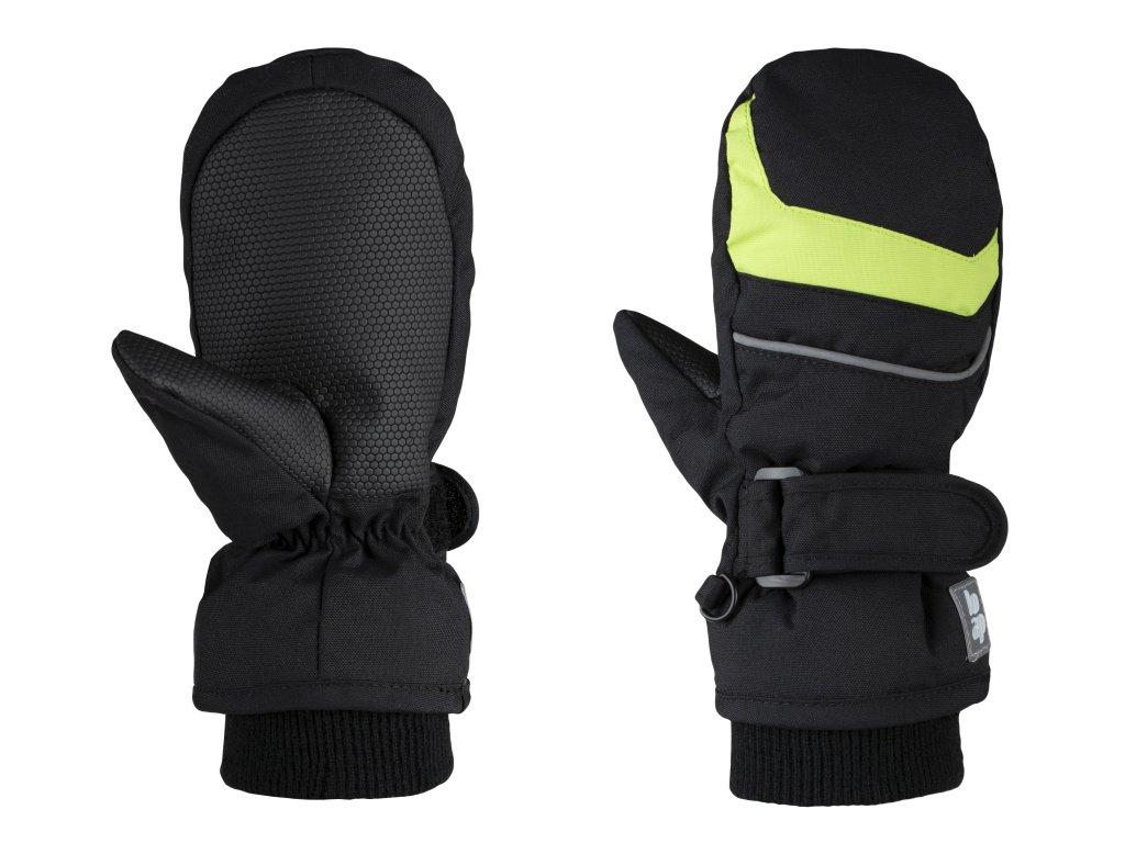 rukavice dětské LOAP RAFKO palčáky zimní černo/zelené, 12