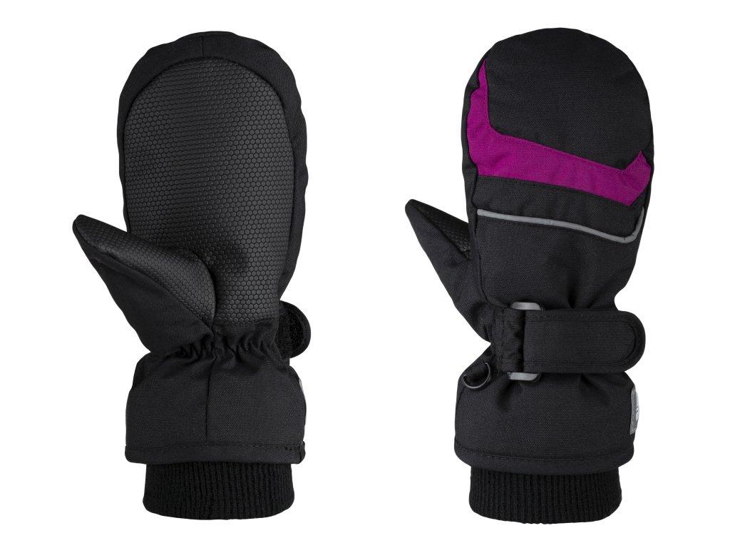 rukavice dětské LOAP RAFKO palčáky zimní černo/růžové, 10