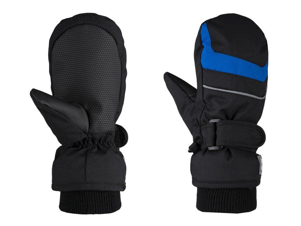 rukavice dětské LOAP RAFKO palčáky zimní černo/modré, 10