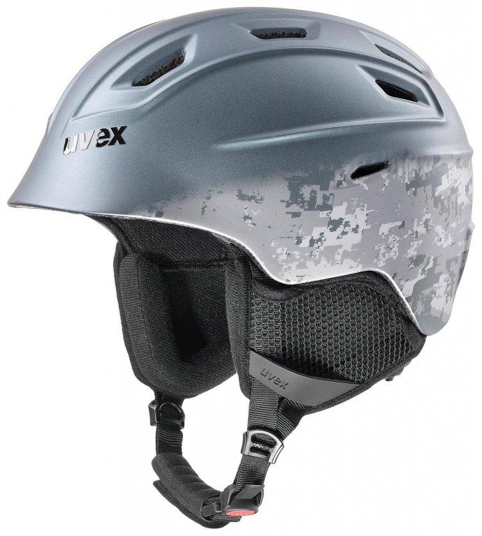 přilba lyžařská UVEX FIERCE šedá, 55-59