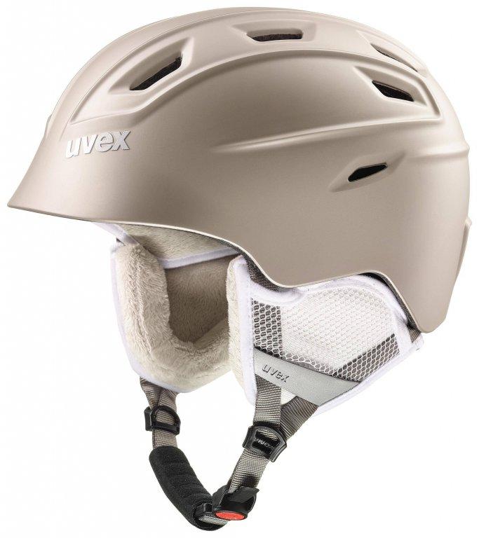 přilba lyžařská UVEX FIERCE krémová, 55-59