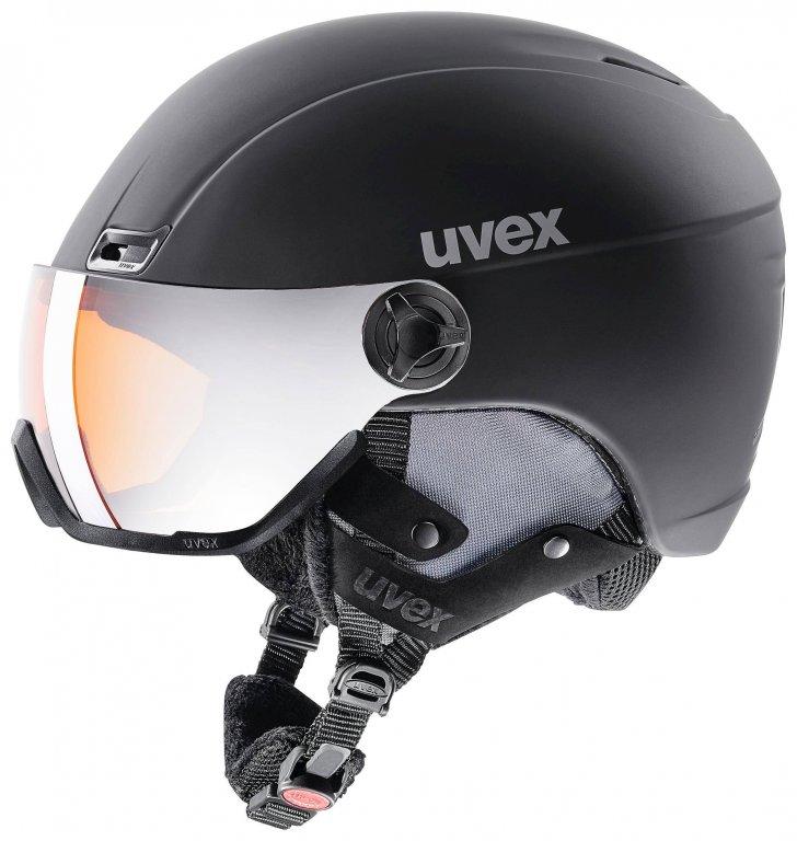 přilba lyžařská UVEX HLMT 400 VISOR STYLE černá, 53-58