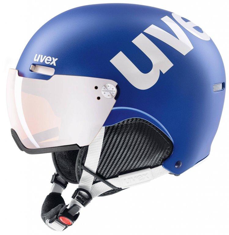 přilba lyžařská UVEX HLMT 500 VISOR modrá, 55-59