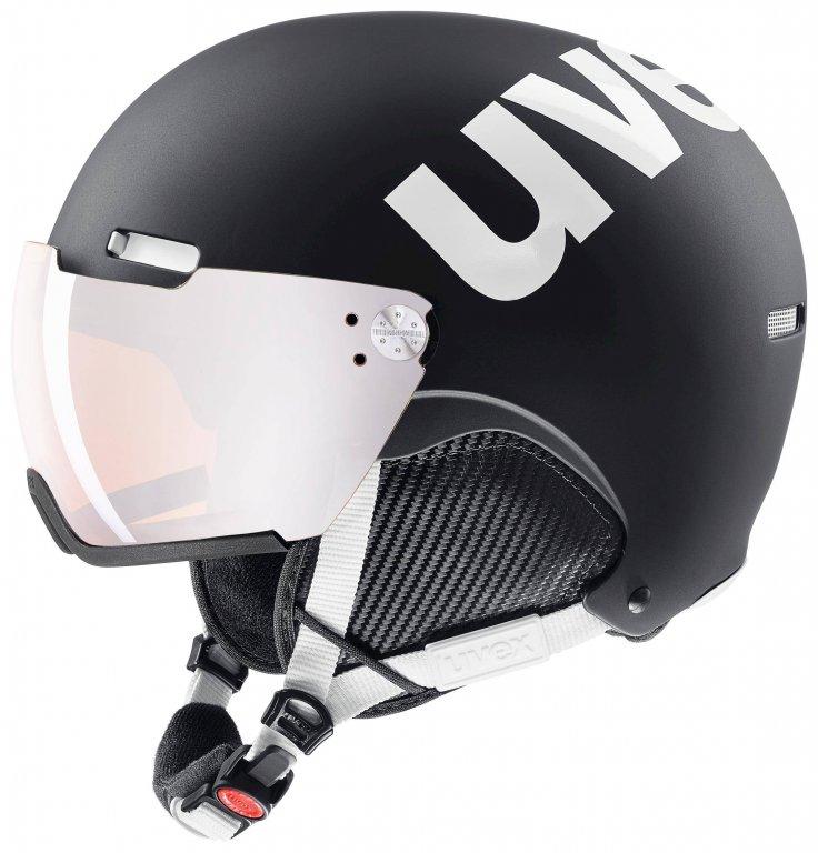přilba lyžařská UVEX HLMT 500 VISOR černo/bílá, 55-59