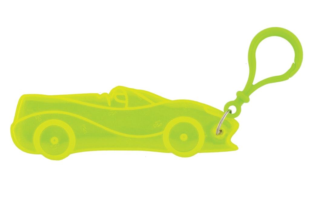 přívěšek reflexní auto žluté