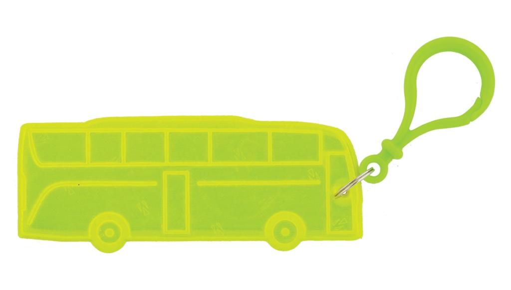 přívěšek reflexní autobus žlutý