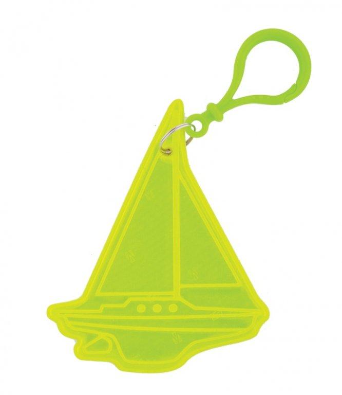 přívěšek reflexní loď žlutá