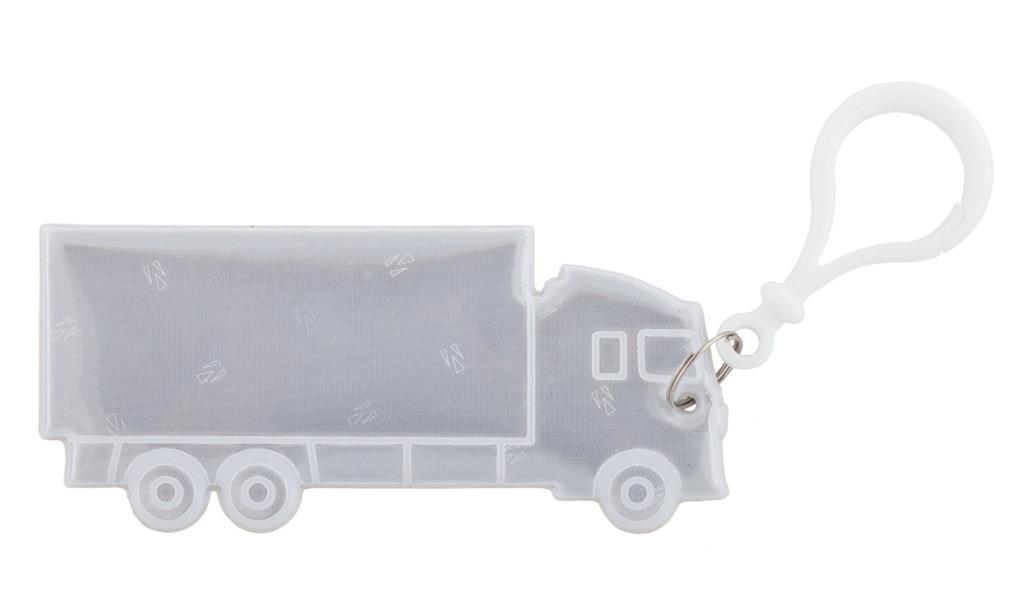 přívěšek reflexní nákladní auto bílé