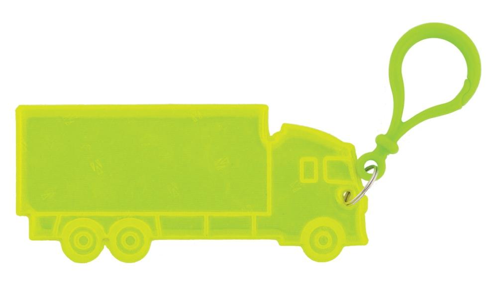 přívěšek reflexní nákladní auto žluté