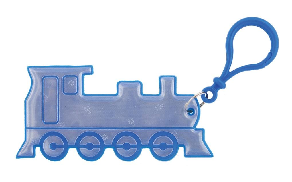 přívěšek reflexní vlak modrý