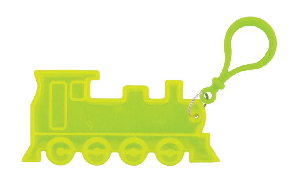 Přívěšek reflexní vlak žlutý