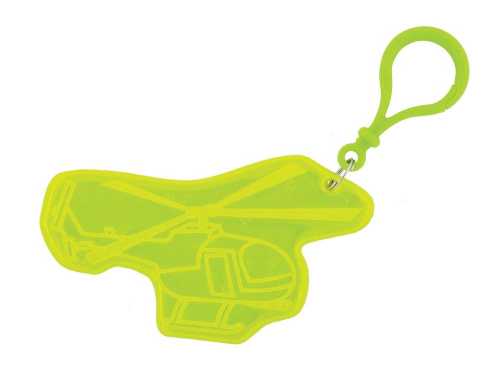 přívěšek reflexní vrtulník žlutý