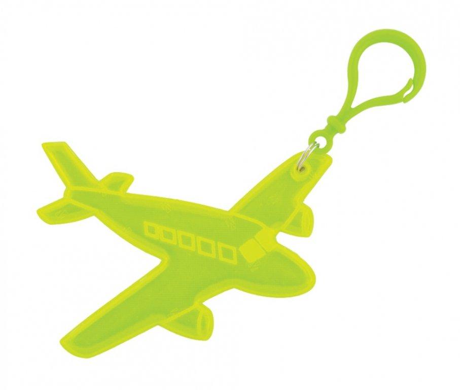 přívěšek reflexní letadlo žluté