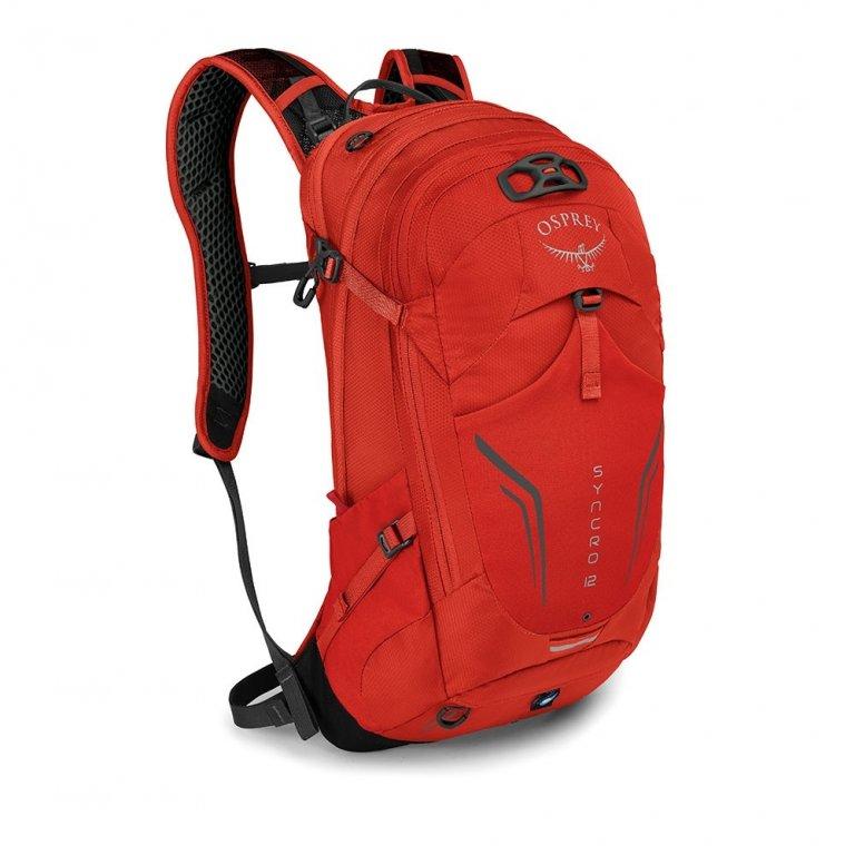 batoh + pláštěnka OSPREY SYNCRO 12 Firebelly Red