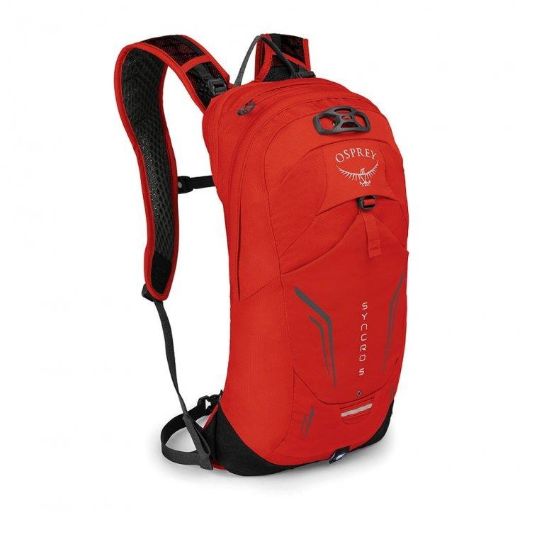 batoh + pláštěnka OSPREY SYNCRO 5 Firebelly Red