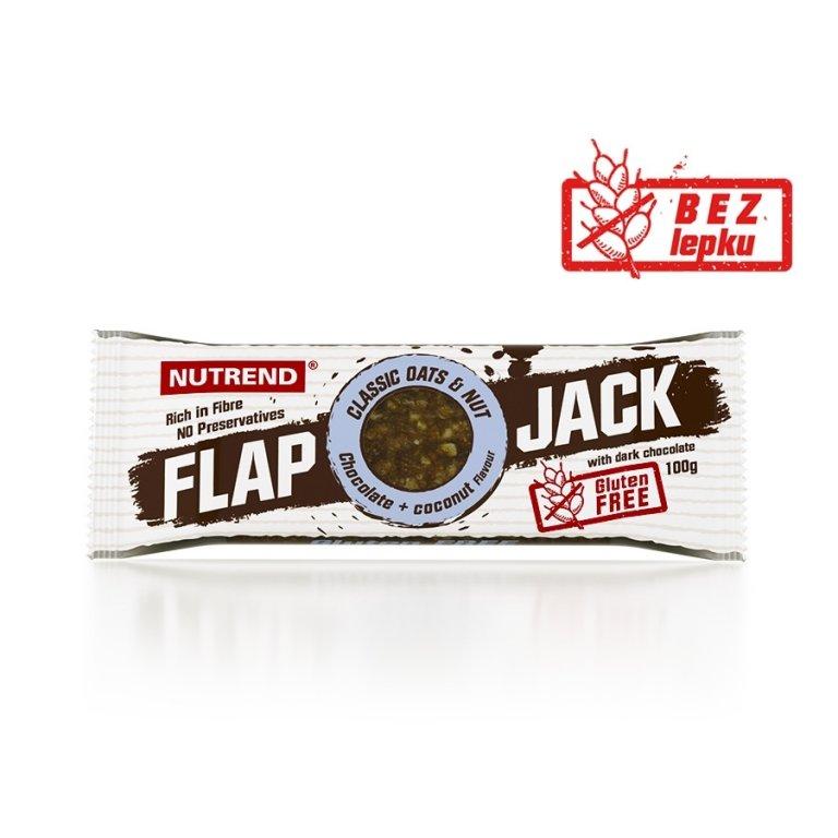 tyčinka Nutrend FLAPJACK GLUTEN FREE čokoláda+kokos