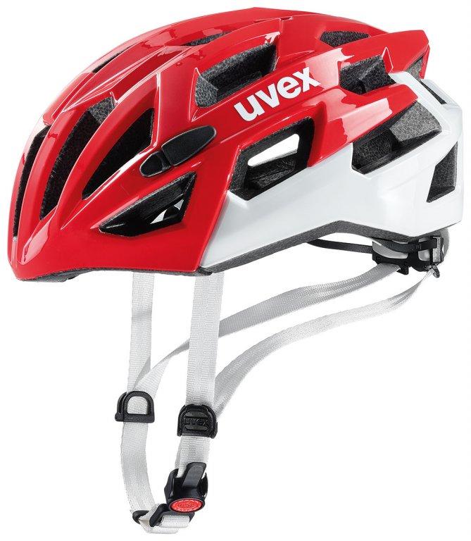 přilba UVEX Race 7 červeno/bílá, 51-55