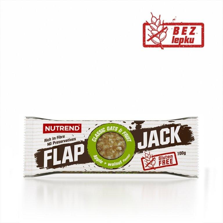 tyčinka Nutrend FLAPJACK GLUTEN FREE jablko+vlašský ořech