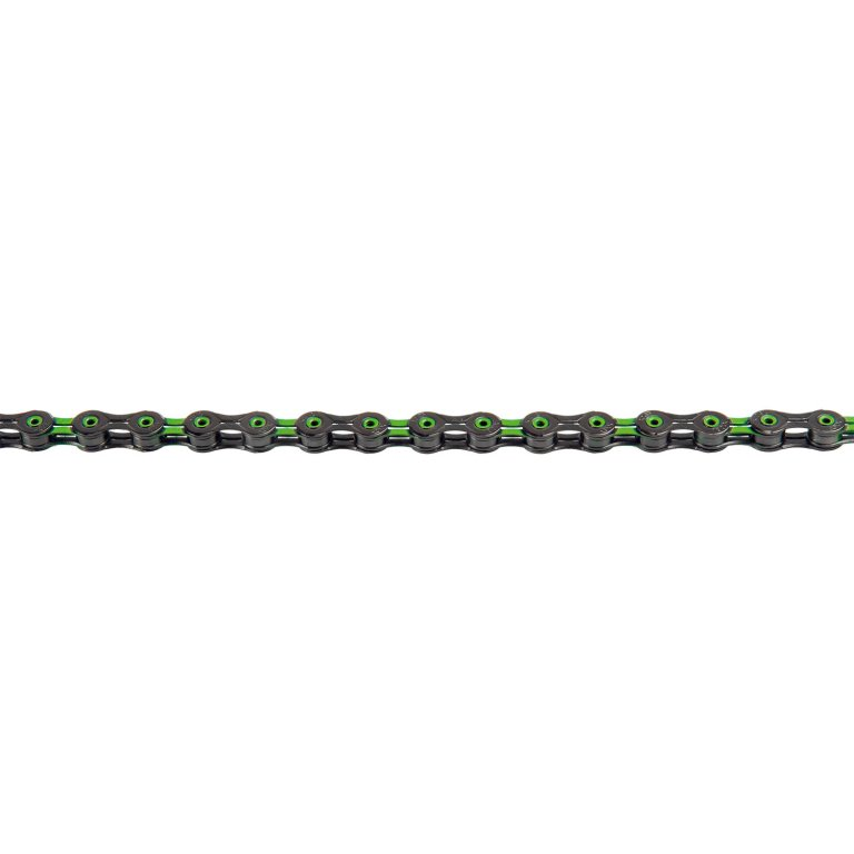 řetěz KMC DLC10 zeleno-černý 116 čl. BOX
