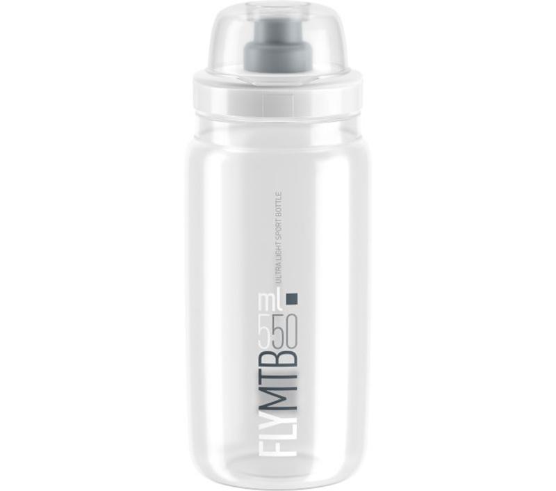 Lahev ELITE FLY MTB čirá/šedé logo, 550 ml