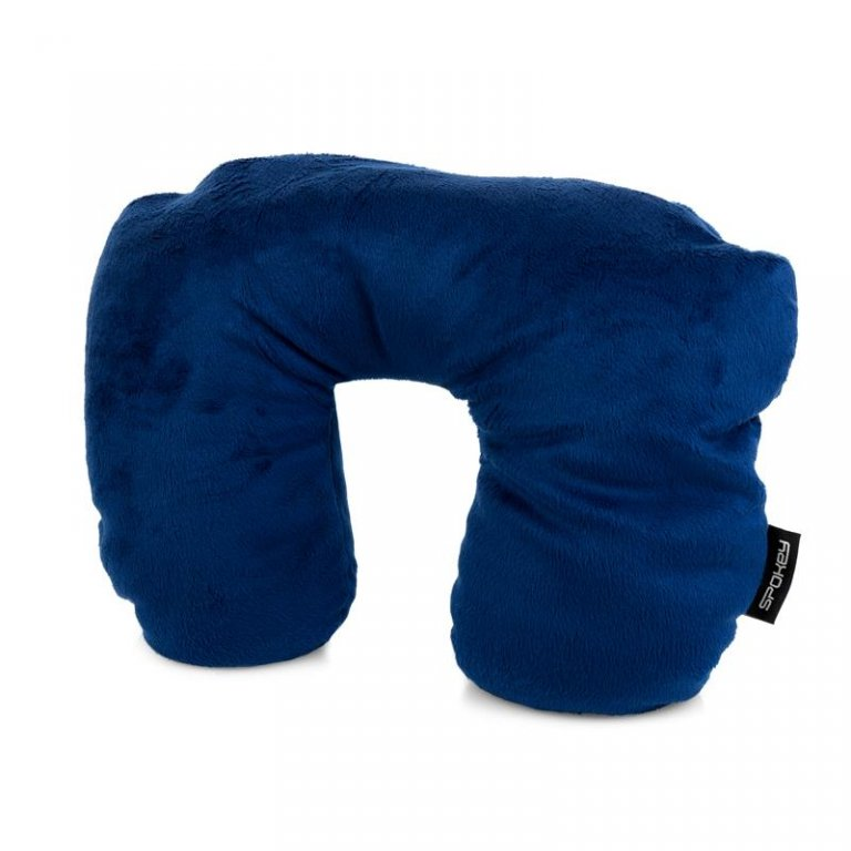 polštářek cestovní Spokey ORIGAMI 2v1 mikrokuličky modrý