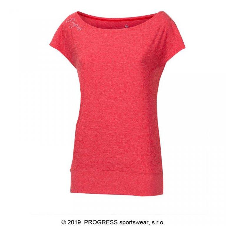 Triko krátké dámské Progress OMEGA červené
