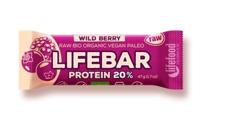 tyčinka Lifefood Lifebar Protein Bio Raw lesní ovoce