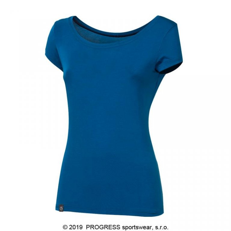 Triko krátké dámské Progress LIBERTA modré