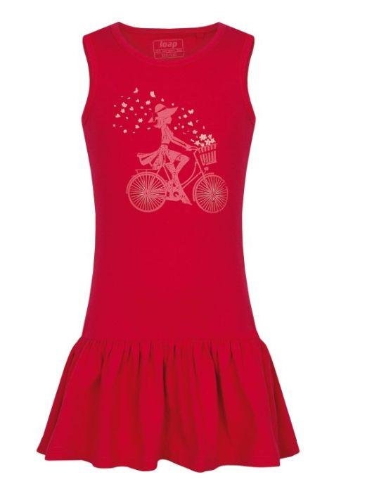 šaty dětské LOAP BRONA růžové, 122/128
