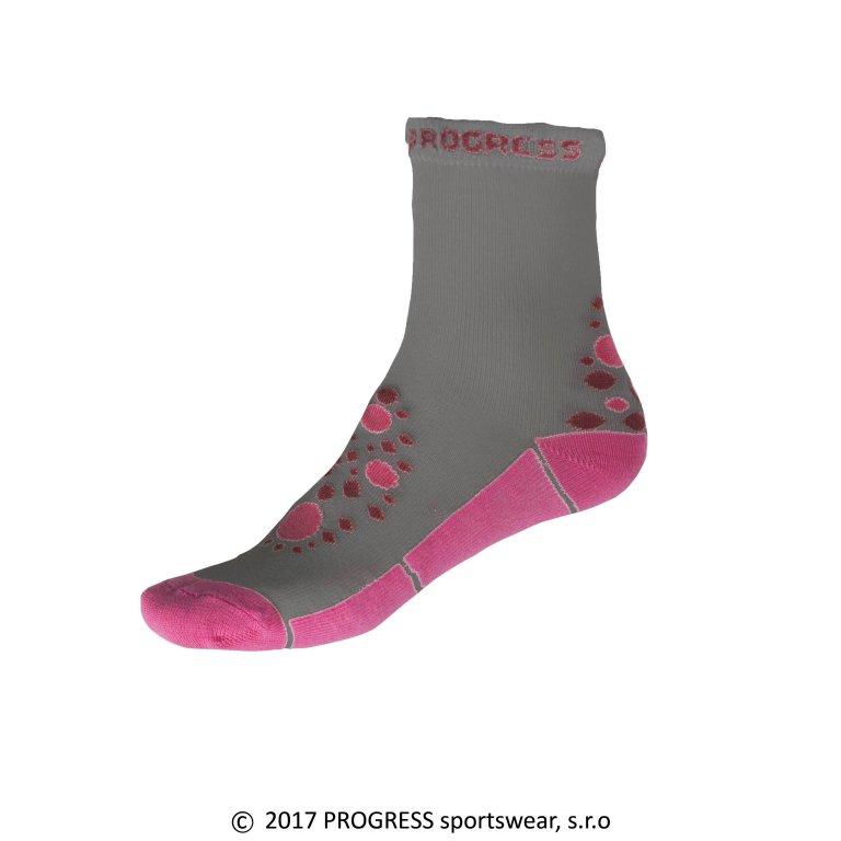 ponožky dětské Progress KSS šedo/růžové, 26-29