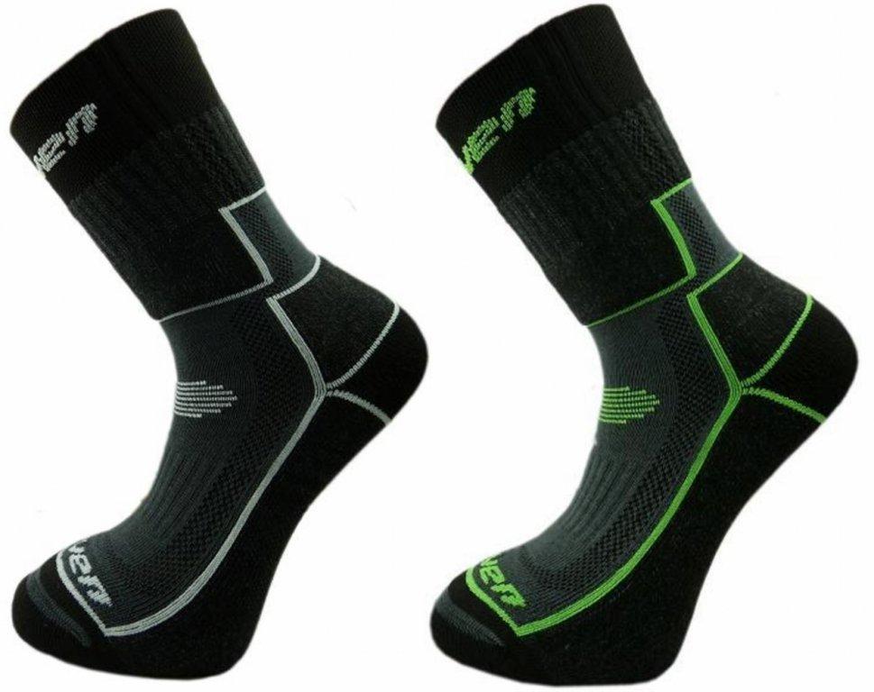 ponožky dětské HAVEN TREKKING černo/zelené černo/šedé 2 páry, 23-26