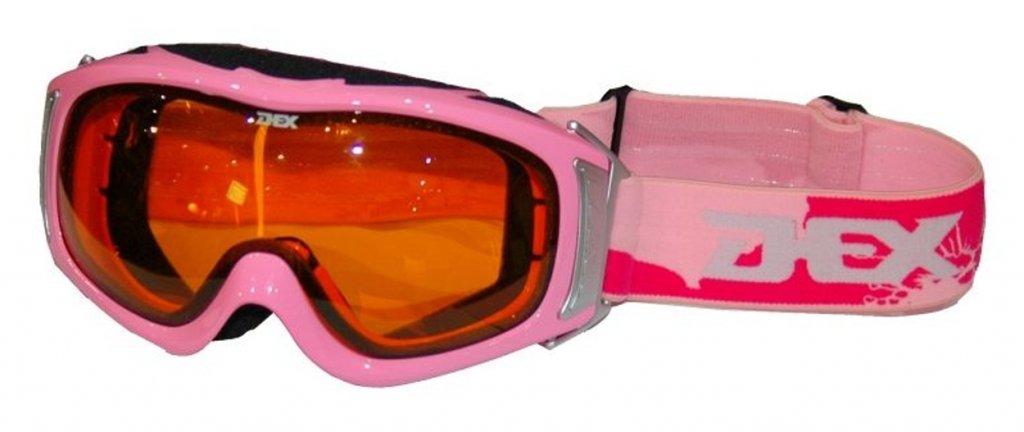 brýle lyžařské/snowboardové DEX Pink - oranžová skla