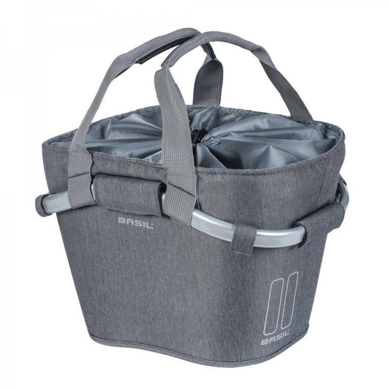 brašna BASIL Carry All front na řidítka šedá